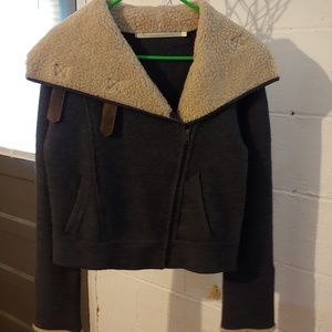 Twelfth street by Cynthia Vincent sherpa jacket